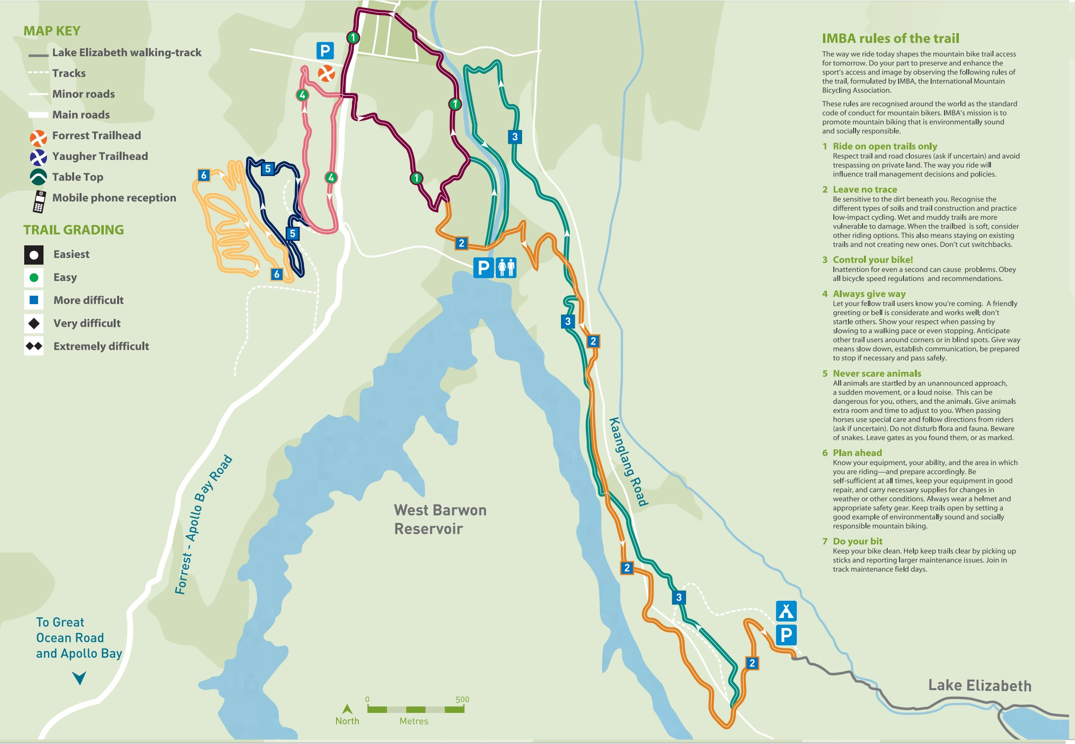 Forrest Trail Head Map