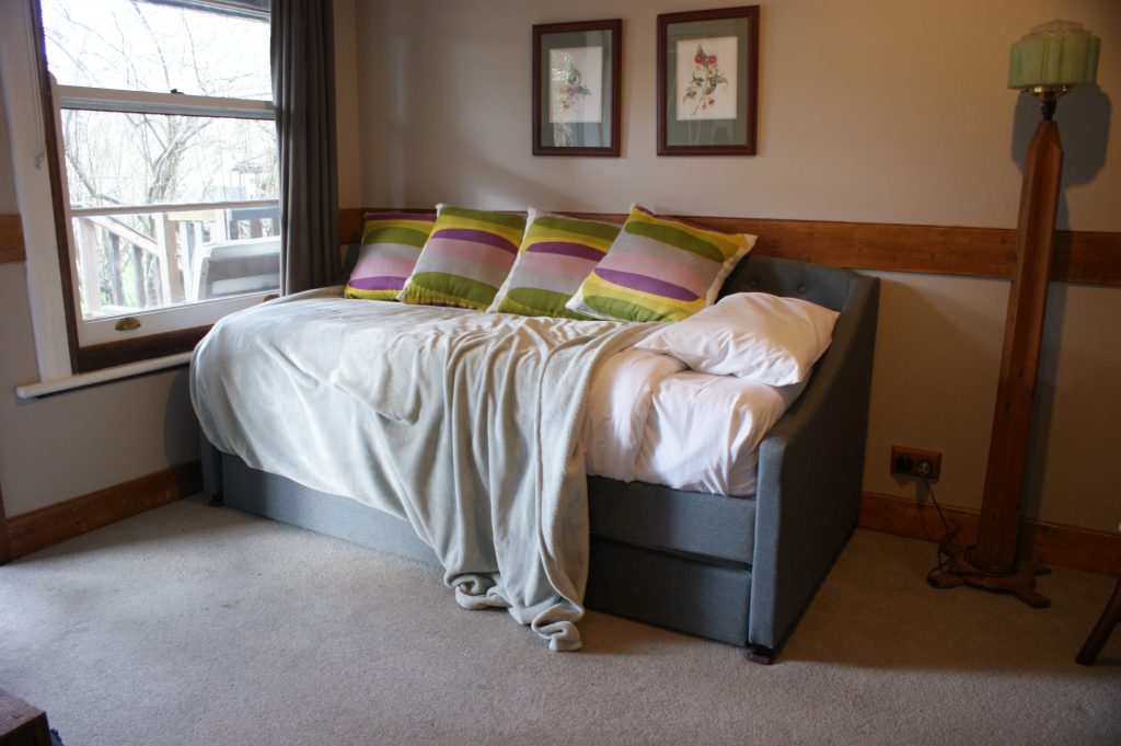 Sofa/trundle creates two more single beds - Otways Suite