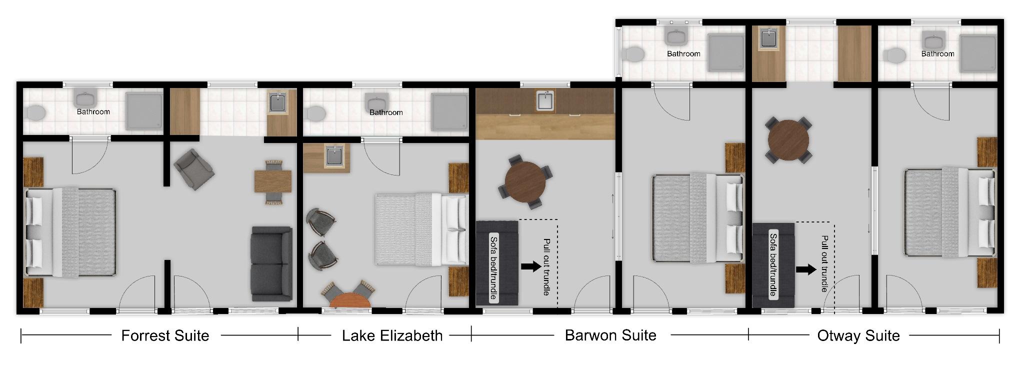 King & Queen Suite Options