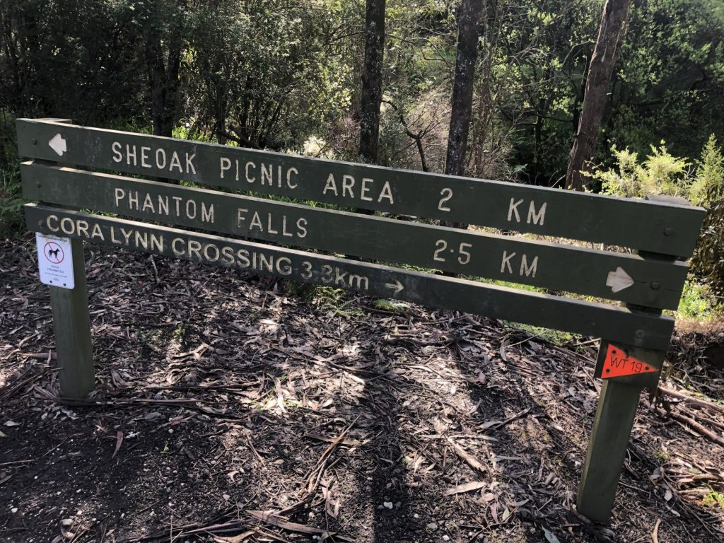Sign at the start